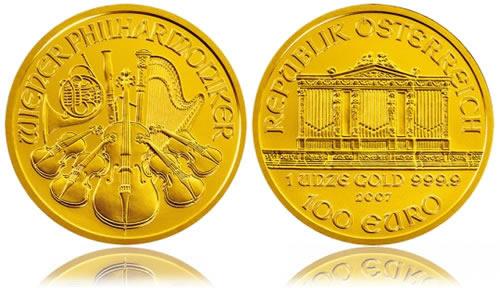 Austrian Vienna Philharmonic Gold Bullion Coin