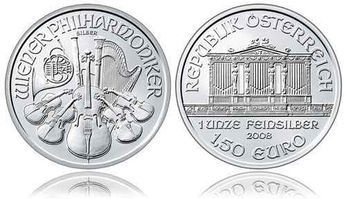 Austrian Vienna Philharmonic Silver Bullion Coin