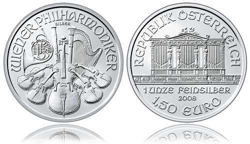 Austrian Vienna Philharmonic Silver Bullion Coin