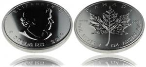 Canadian Maple Leaf Silver Bullion Coin