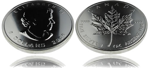Canadian Maple Leaf Silver Bullion Coin
