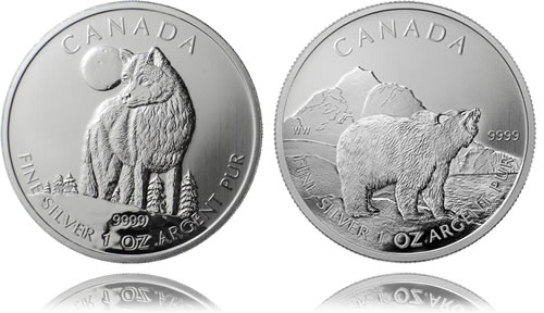 Canadian Wildlife Silver Bullion Coins