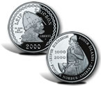 2000 Leif Ericson Commemorative Silver Dollars