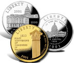 2001 Capitol Visitor Center Commemorative Coins