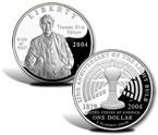 2004 Thomas Alva Edison Silver Dollar