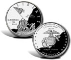 2005 Marine Corps 230th Anniversary Silver Dollar