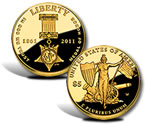 2011 Medal of Honor $5 Gold Coin