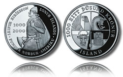 2000 Leif Ericson Silver Krónur, Icelandic Version