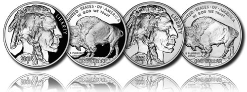 2001 American Buffalo Commemorative Silver Dollars (Proof and Uncirculated)