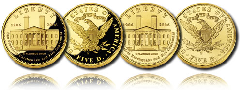 2006 San Francisco Old Mint $5 Gold Coin (Proof and Uncirculated)