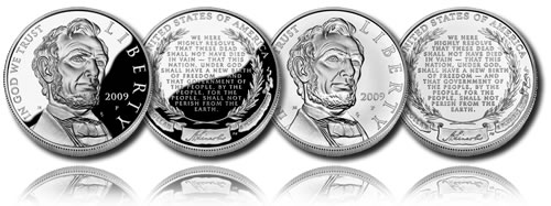 2009 Abraham Lincoln Proof Silver Dollar Commemorative Coin