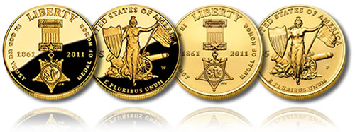 2011 Medal of Honor $5 Gold Coins (Proof and Uncirculated)