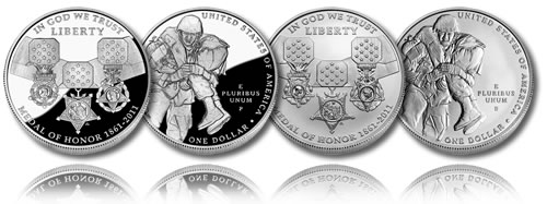 2011 Medal of Honor Silver Dollar (Proof and Uncirculated)