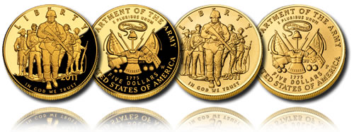 2011 United States Army $5 Gold Coin (Proof and Uncirculated)