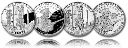 2011 United States Army Half Dollar Coin (Proof and Uncirculated)