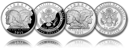 2011 United States Army Silver Dollar (Proof and Uncirculated)