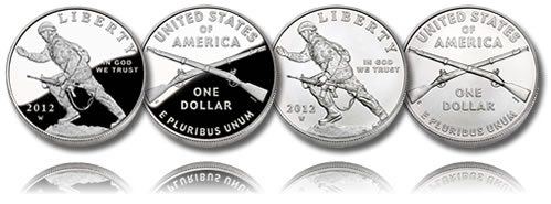 2012 Infantry Soldier Silver Dollar Proof and Uncirculated