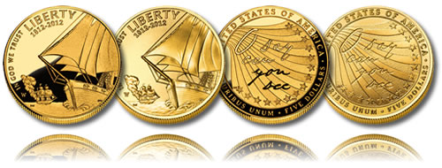 2012 Star-Spangled Banner $5 Coin Proof and Uncirculated