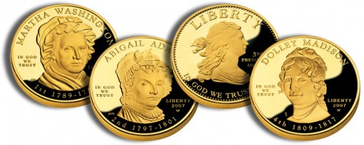 2007 First Spouse Gold Coins (US Mint images)