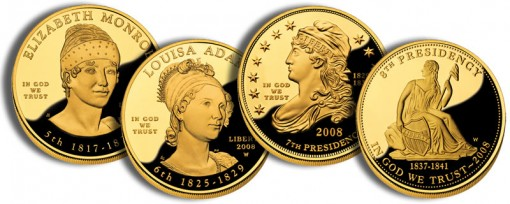 2008 First Spouse Gold Coins (US Mint images)