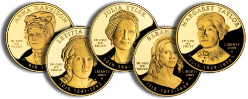 2009 First Spouse Gold Coins (US Mint images)