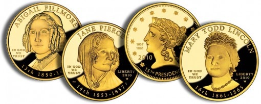 2010 First Spouse Gold Coins (US Mint images)