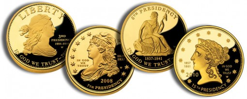 Liberty Subset First Spouse Gold Coins (US Mint images)