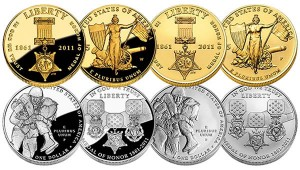 Medal of Honor $5 Gold and Silver Dollar