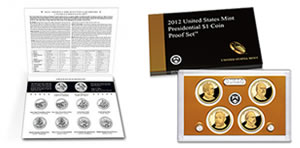 2012 ATB Quarters Uncirculated Set - 2012 Presidential $1 Coin Proof Set