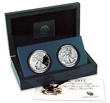2012 American Silver Eagle San Francisco Two-Coin Set