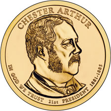 Chester Arthur Presidential $1 Coin