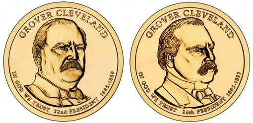 2012 Grover Cleveland Presidential $1 Coins - 1st Term and 2nd Term