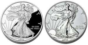 2012 Proof and Reverse Proof American Silver Eagle