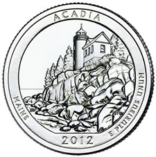 2012 Acadia National Park Quarter