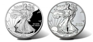 2012-S American Silver Eagle Coins - Proof and Reverse Proof