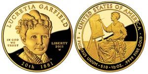 Lucretia Garfield First Spouse First Spouse Gold Coin