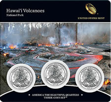 14th America the Beautiful Quarters Three-Coin Set - Hawaii Volcanoes