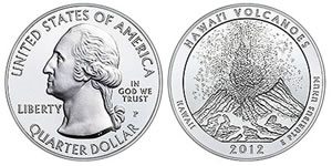 2012-P Hawaii Volcanoes Silver Coin
