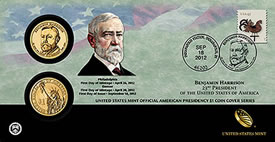 Benjamin Harrison Presidential Dollar Coin Cover
