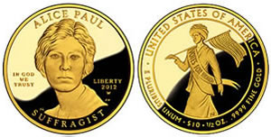 Alice Paul gold coin