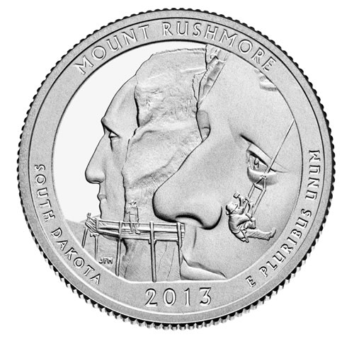 Image of Mount Rushmore National Memorial Quarter
