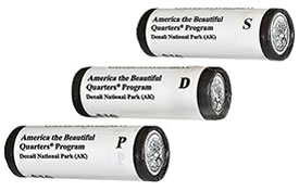 Three-Roll Set of 2013 America the Beautiful Quarters