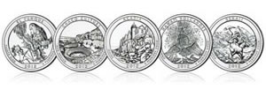 America the Beautiful Quarters for 2012