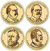 Four 2012 Presidential $1 Coins