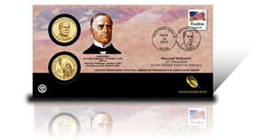25th Presidential Dollar Coin Cover