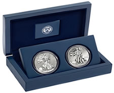 2013 West Point American Silver Eagle Two-Coin Set Sales