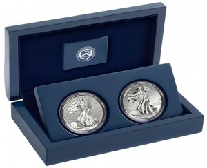 2013 West Point American Silver Eagle Two-Coin Set