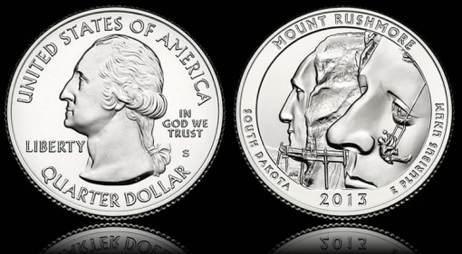 Mount Rushmore Quarter - Obverse and Reverse