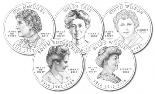 Obverse Designs of 2013 First Spouse Gold Coins