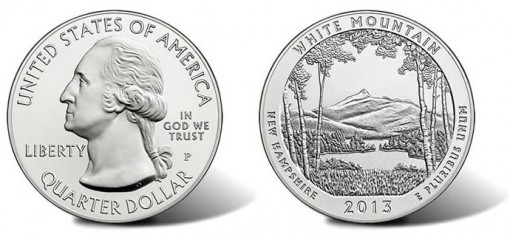 White Mountain National Forest Five Ounce Silver Uncirculated Coin